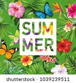 tropical hawaiian design....   Shutterstock .eps vector #1039239511