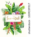 tropical hawaiian wedding... | Shutterstock .eps vector #1039239517