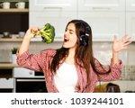 lovely long haired girl having... | Shutterstock . vector #1039244101