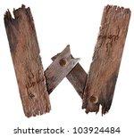 Old Grunge Wooden Alphabet W ...