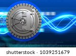 3d illustration of steel bank... | Shutterstock . vector #1039251679