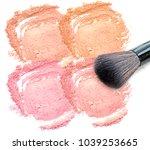 brush make up on facial powder...   Shutterstock . vector #1039253665