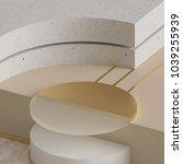 3d rendering  modern mock up ... | Shutterstock . vector #1039255939