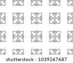 seamless geometric ornamental... | Shutterstock .eps vector #1039267687