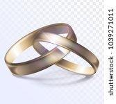 united wedding rings | Shutterstock .eps vector #1039271011
