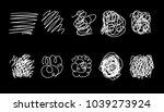 vector set of hand drawn... | Shutterstock .eps vector #1039273924