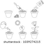 coloring page. instructions on... | Shutterstock .eps vector #1039274215
