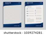 blue brochure template | Shutterstock .eps vector #1039274281