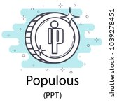 white populous cryptocurrency... | Shutterstock .eps vector #1039278451