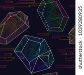 glitch moire seamless pattern.... | Shutterstock .eps vector #1039280935