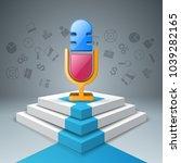 business infographics origami... | Shutterstock .eps vector #1039282165