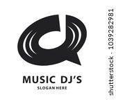disc dj icon logo icon | Shutterstock .eps vector #1039282981