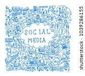 illustration of social media... | Shutterstock .eps vector #1039286155