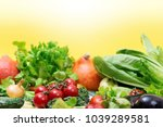 collection of fresh different... | Shutterstock . vector #1039289581