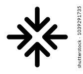 meet point arrow icon vector