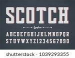 vector condensed retro display...   Shutterstock .eps vector #1039293355