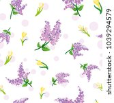 seamless pattern with willow... | Shutterstock .eps vector #1039294579