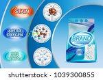 washing powder ad template... | Shutterstock . vector #1039300855