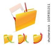 vector folder with document | Shutterstock .eps vector #1039301311