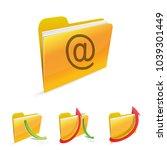 mail icon folder | Shutterstock .eps vector #1039301449