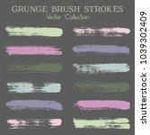 watercolor  ink or paint brush... | Shutterstock .eps vector #1039302409