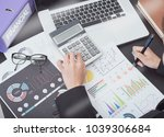 business accountant with... | Shutterstock . vector #1039306684