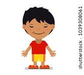 asian boy in sportswear. vector ... | Shutterstock .eps vector #1039308061