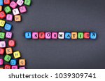 the word information on black... | Shutterstock . vector #1039309741