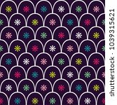 seamless pattern. flowers... | Shutterstock .eps vector #1039315621