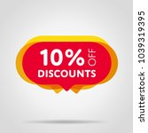 special offer sale red tag... | Shutterstock .eps vector #1039319395