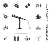 microphone stand icon. detailed ...