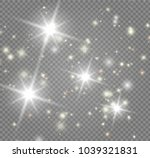 the bright star on transparent... | Shutterstock .eps vector #1039321831