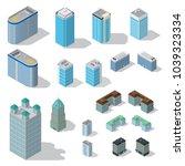 isometric buildings...   Shutterstock .eps vector #1039323334