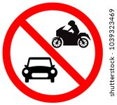 sign no car and no motorcycle    Shutterstock .eps vector #1039323469