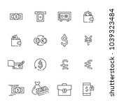 finance thin line icon set 2 ...   Shutterstock .eps vector #1039323484