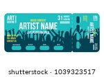 concert ticket template.... | Shutterstock .eps vector #1039323517
