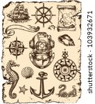 nautical vector illustration set | Shutterstock .eps vector #103932671