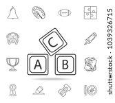 letter a b c logo alphabet icon.... | Shutterstock .eps vector #1039326715