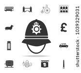 police cap in england icon....   Shutterstock .eps vector #1039329031