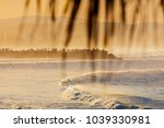 a crowd of people on the groyne ... | Shutterstock . vector #1039330981