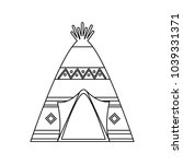 native american icon image  | Shutterstock .eps vector #1039331371
