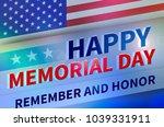 united states memoryal day | Shutterstock . vector #1039331911