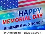 united states memoryal day | Shutterstock . vector #1039331914