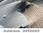 corrugated fiberboard detail | Shutterstock . vector #1039332325