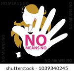 no means no poster  sexual...   Shutterstock .eps vector #1039340245