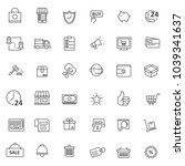 set of ecommerce icon with thin ... | Shutterstock .eps vector #1039341637