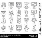 seo   web line icons.... | Shutterstock .eps vector #1039343137