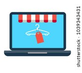 vector icon of online shopping... | Shutterstock .eps vector #1039343431