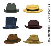 vector set of cartoon color... | Shutterstock .eps vector #1039343491