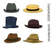 vector set of cartoon color... | Shutterstock .eps vector #1039343491
